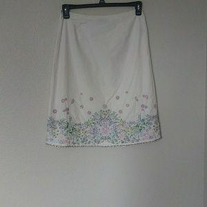 Dana Buchman embroidery skirt